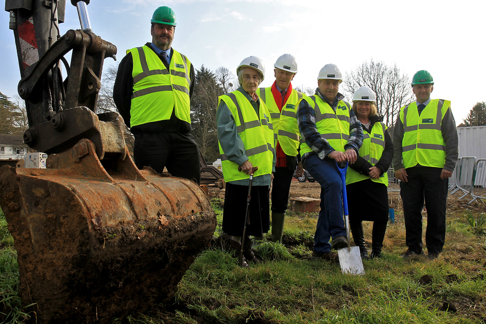 Residents and staff dig first sod of new home for Fairfield