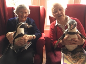 Fairfield residents with penguins