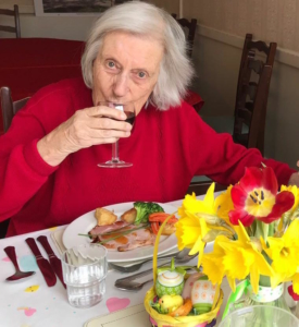Fairfield resident enjoying Easter Sunday lunch