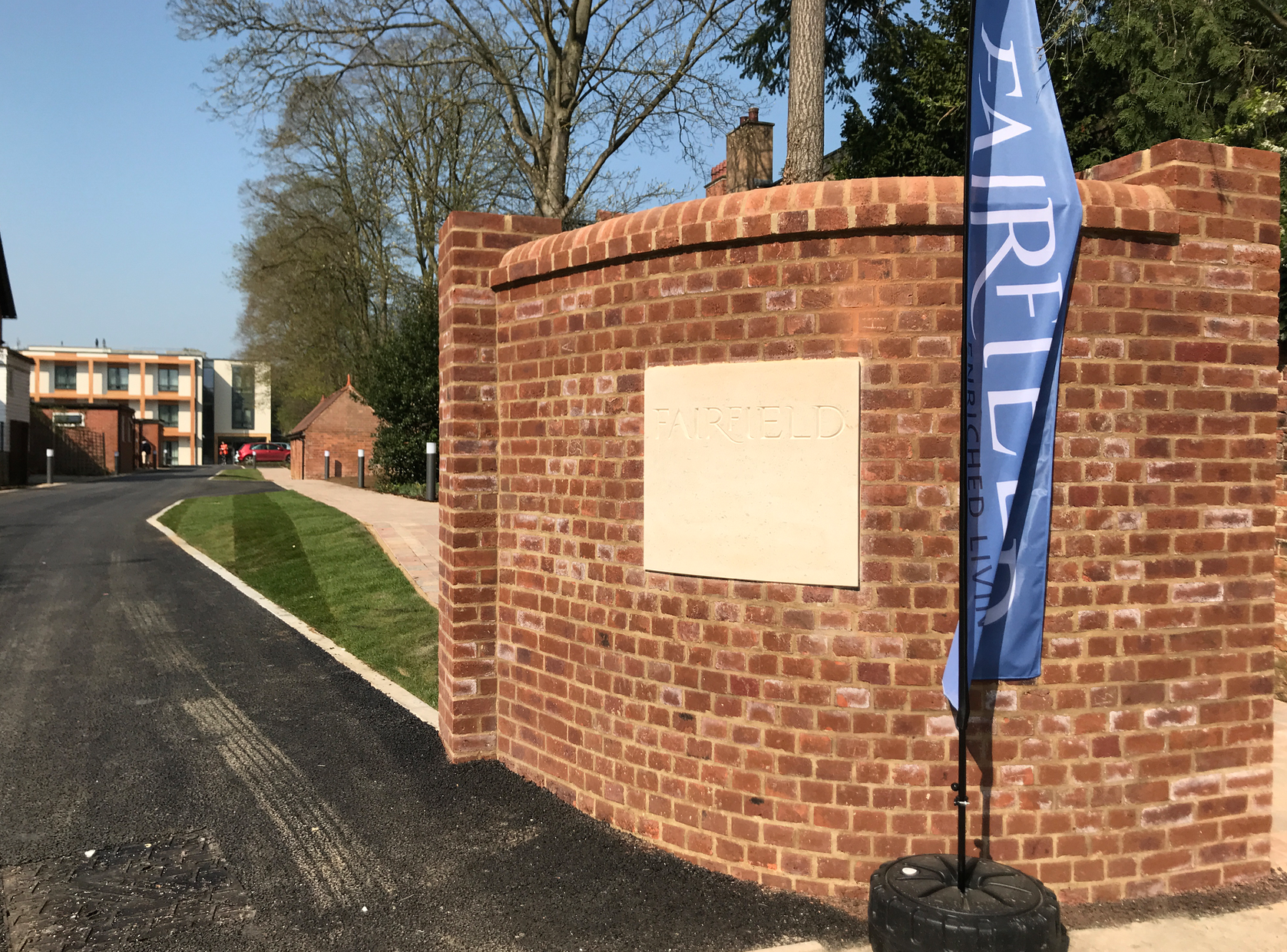New sign welcomes visitors to open day at Fairfield