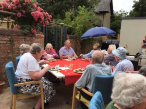 Fairfield residents enjoying a birthday BBQ