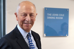 The John Cole Dining Room plaque at Fairfield