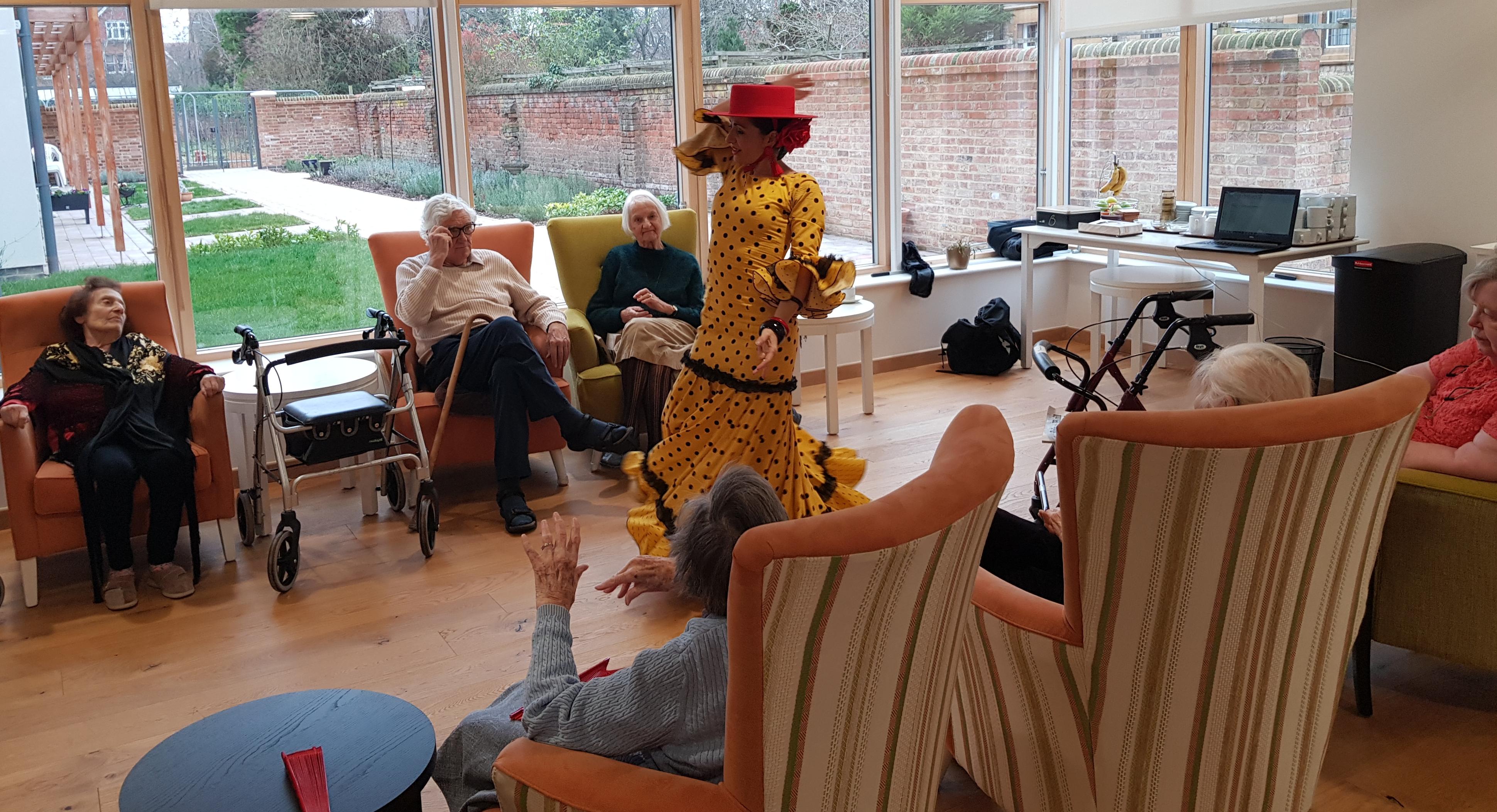 Flamenco dancer visits Fairfield