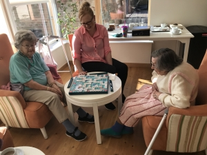 Fairfield residents playing scrabble at