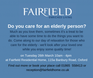 Carers relaxation day at Fairfield