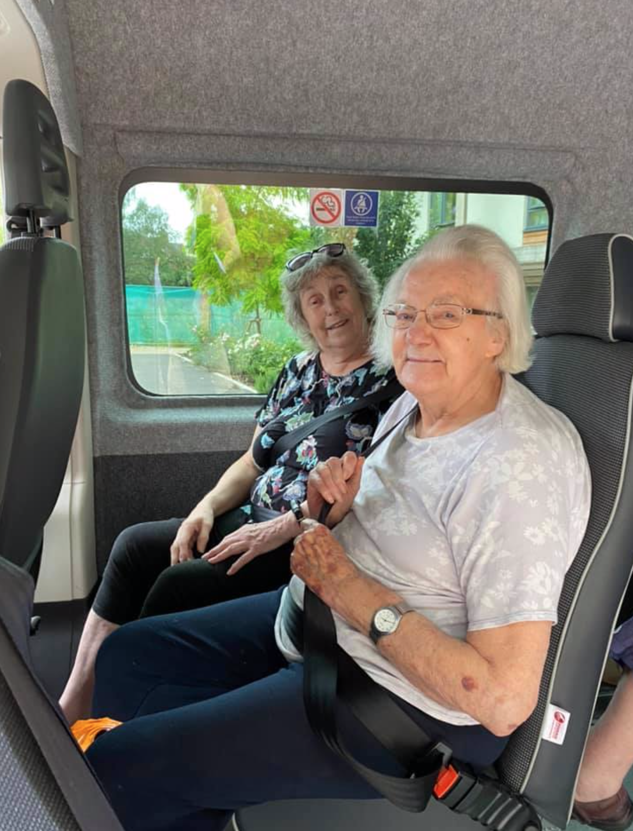 Fairfield residents enjoying COVID safe minibus outings